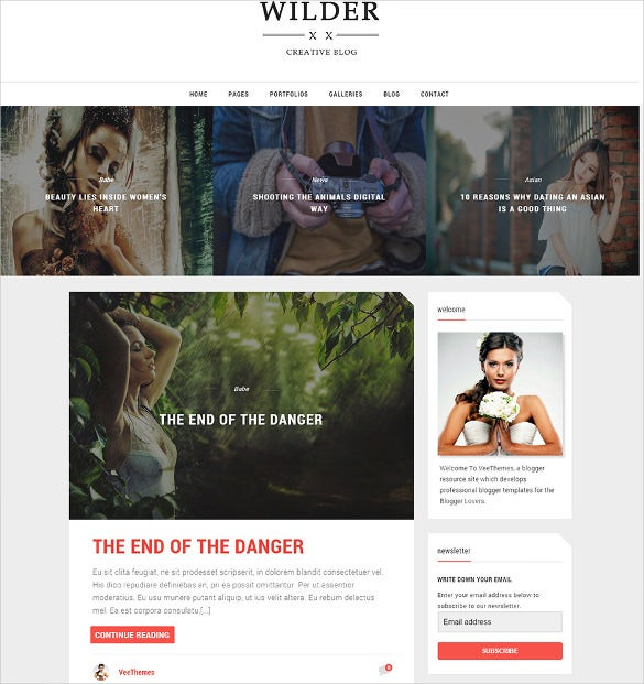 photography wilder blogger template