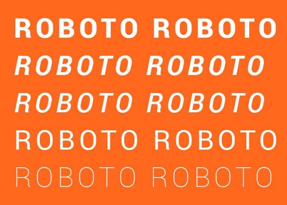 roboto infographic font
