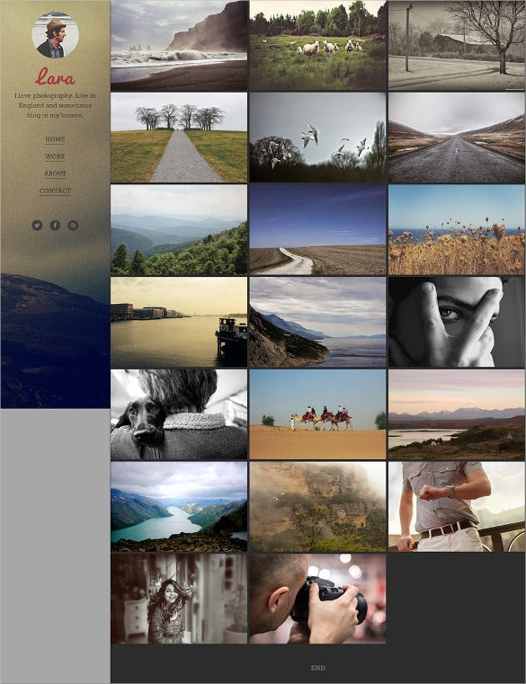 blogger photographers template