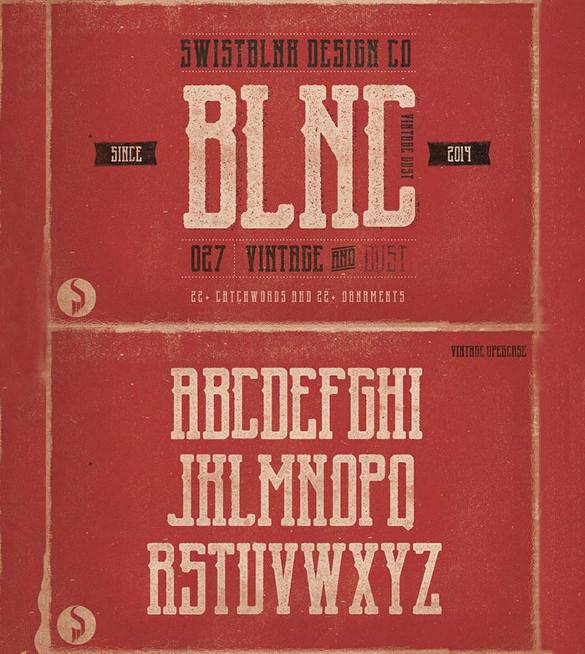 blnc vintage infographic font