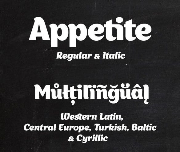 appetite infographic font1