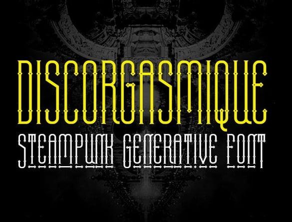 discorgasmique infographic font