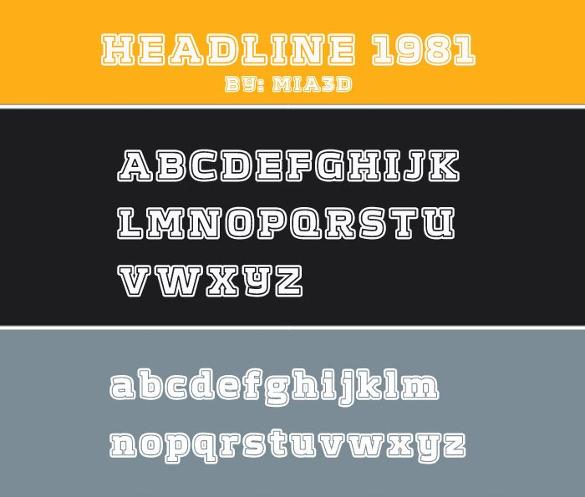 headline1981 font