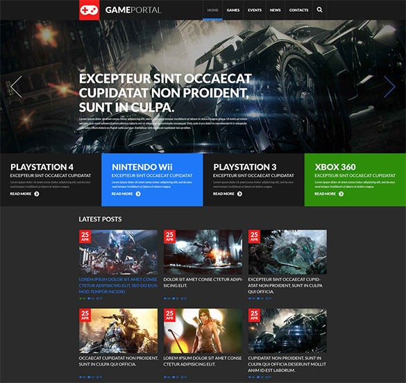 wordpress theme for gaming fan board