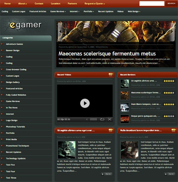 egamer gaming wordpress theme