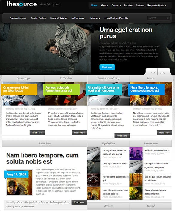 thesource gaming wordpress theme