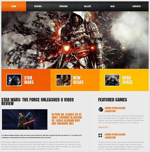 game portal responsive wordpress theme1