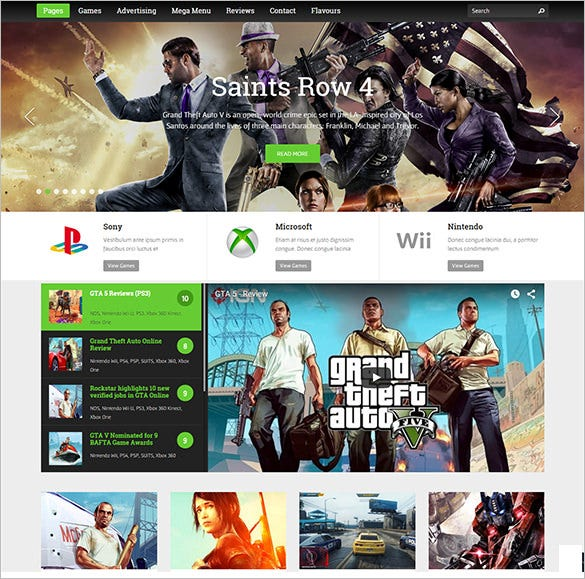 gameszone gaming wordpress theme