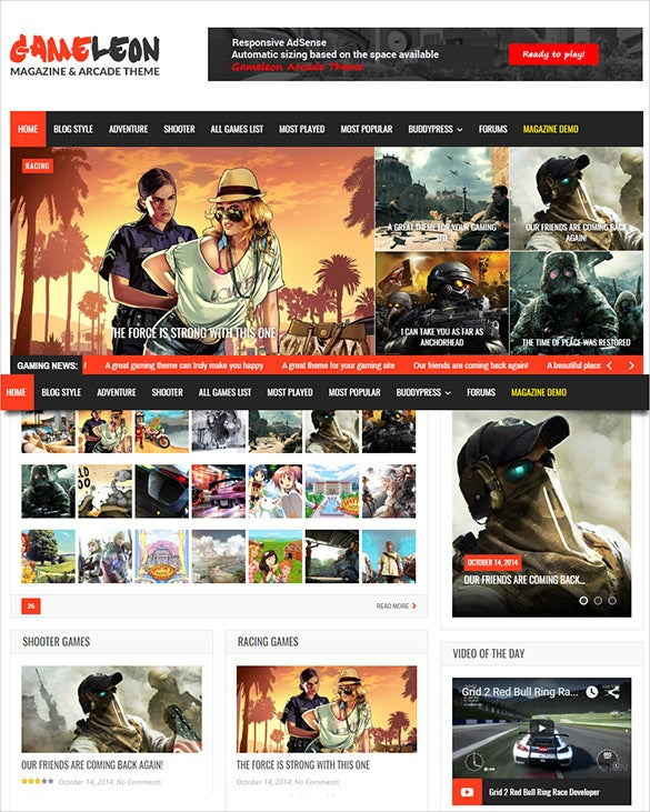 gameleon – wordpress theme for gaming