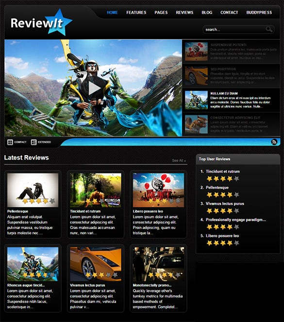 reviewit gaming wordpress theme