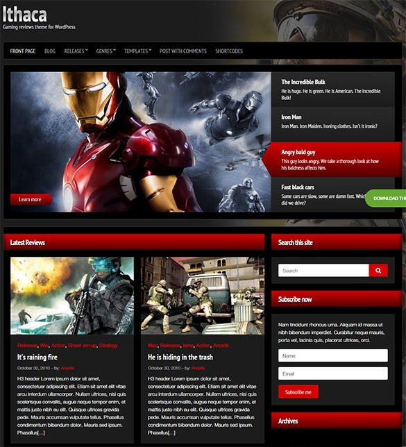 ithaca – gaming wordpress theme