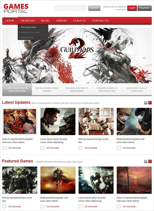 wordpress theme for game portal