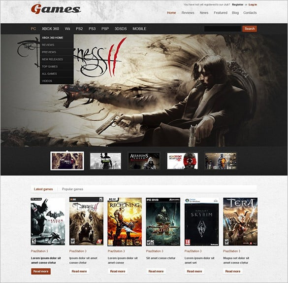 game portal wordpress theme2