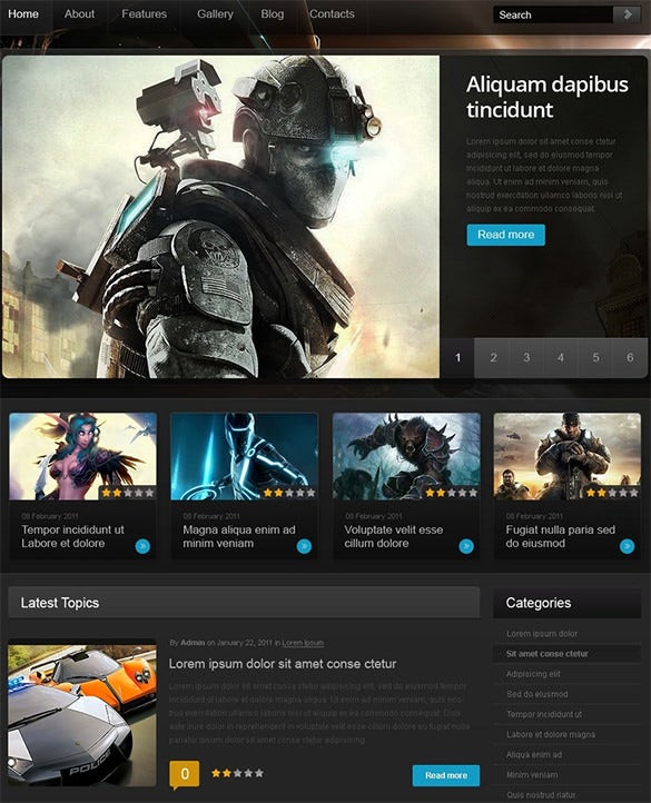 game portal wordpress thm