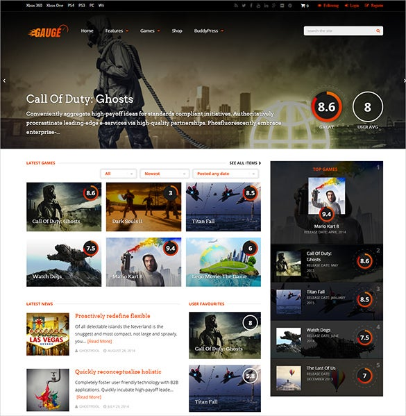 ultimate gaming review wordpress theme