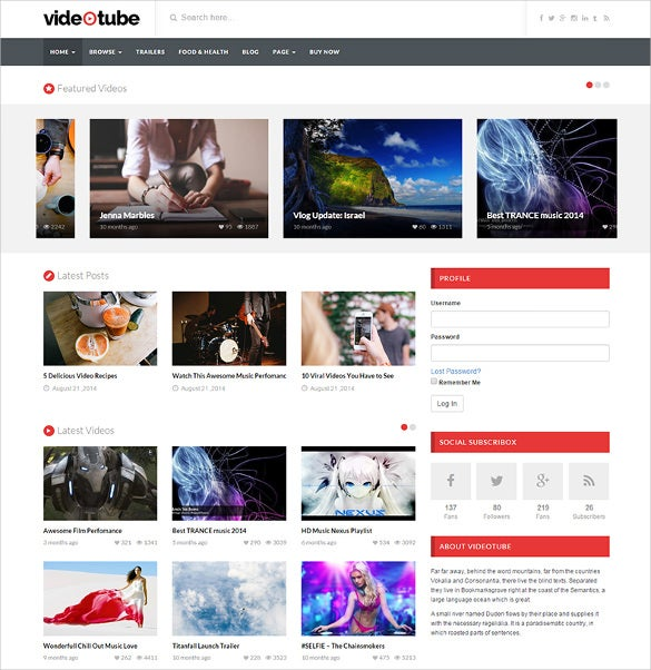 11+ YouTube WordPress Themes & Templates | Free & Premium Templates