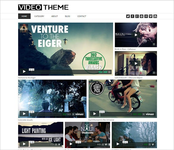 simple youtube responsive wordpress theme