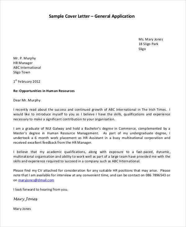application cover letter - How To Write A Cover Letter For School Application