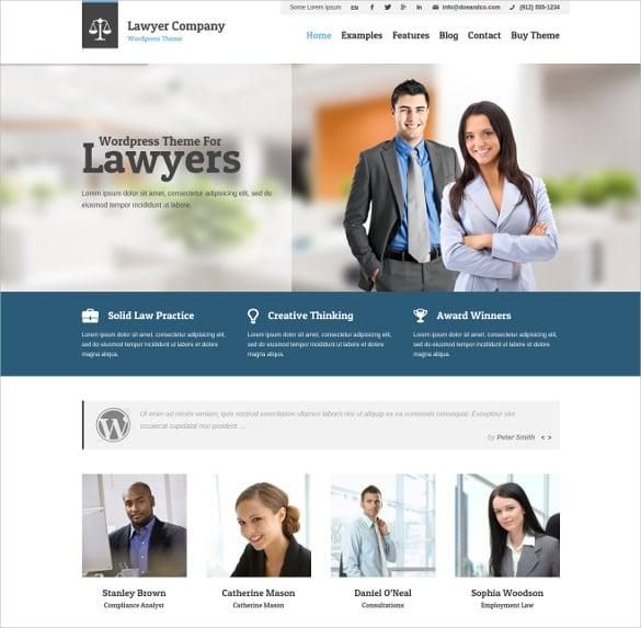 lawyer multi purpose adaptive wordpress theme