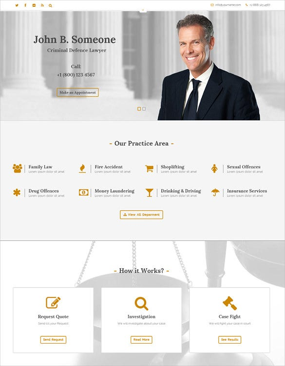 responsive wp theme for pleader