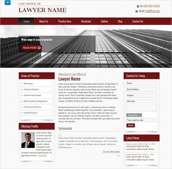 premium professional lawyer wordpress them