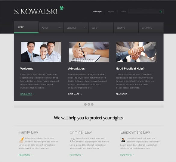 premium wordpress theme for advocate