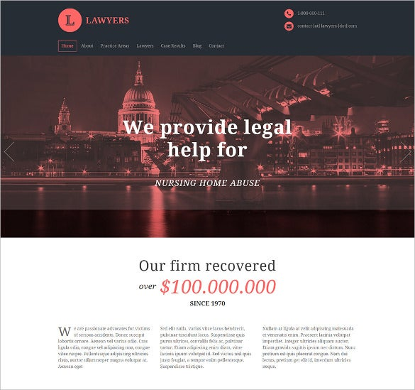 responsive business wordpress theme for lawyers