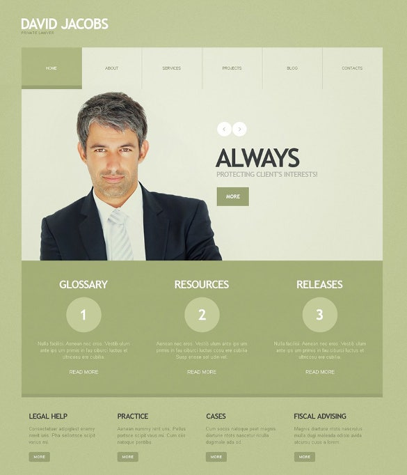 pretty lawyer wordpress theme responsive