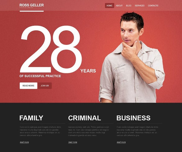 wordpress theme for private lawyer