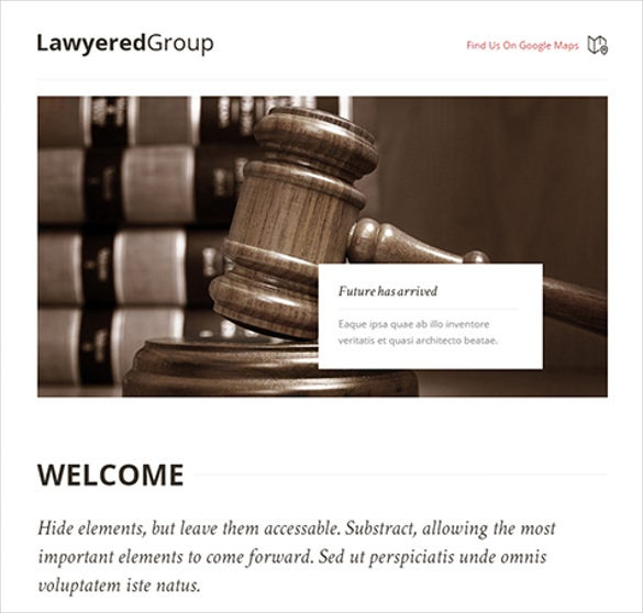 lawyer group responsive wordpress theme