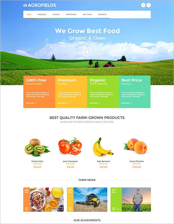 premium agriculture wordpress theme