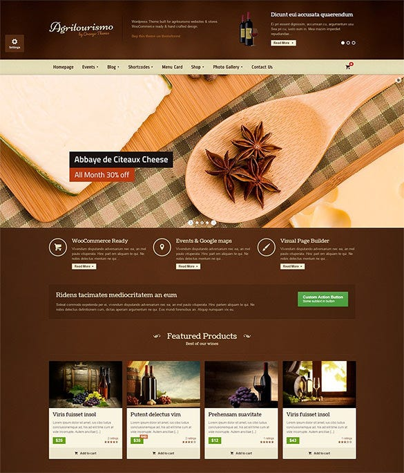 best organic food wordpress theme
