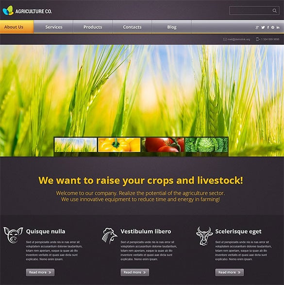 colorful agriculture wordpress theme