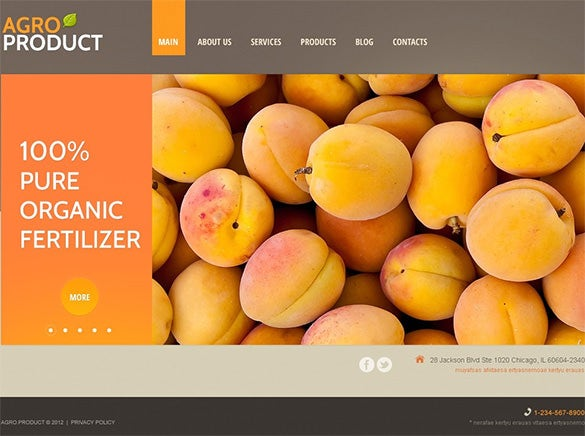responsive agro products wordpress theme