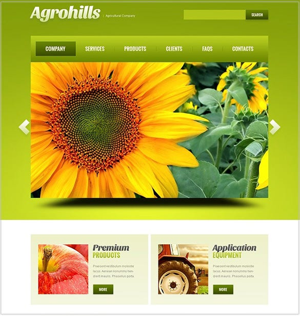 simple agriculture wordpress template