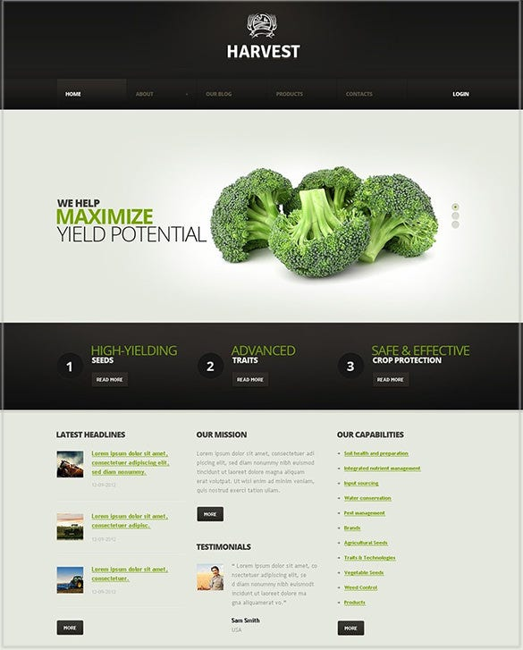 horticulture responsive wordpress theme