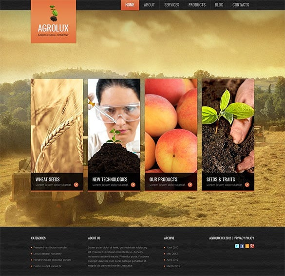 splendid agriculture wordpress theme