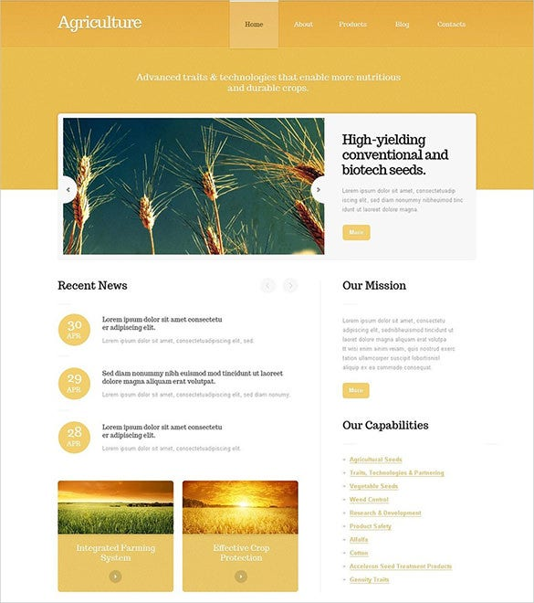 fully responsive agriculture wordpress theme