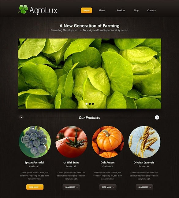 impressive agriculture wordpress theme
