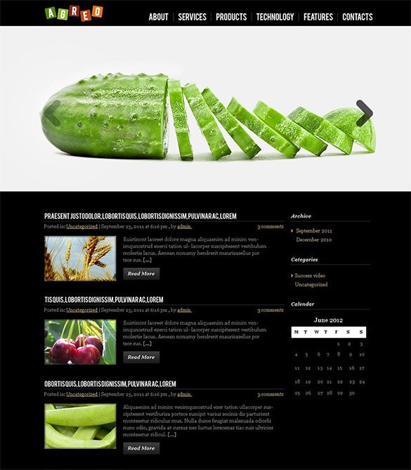 creative agriculture wordpress theme