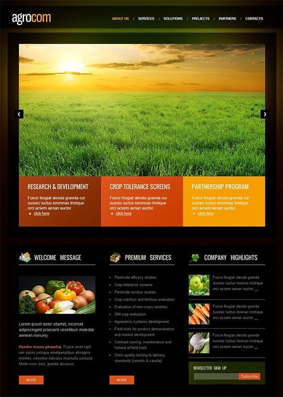 good looking agriculture wordpress theme