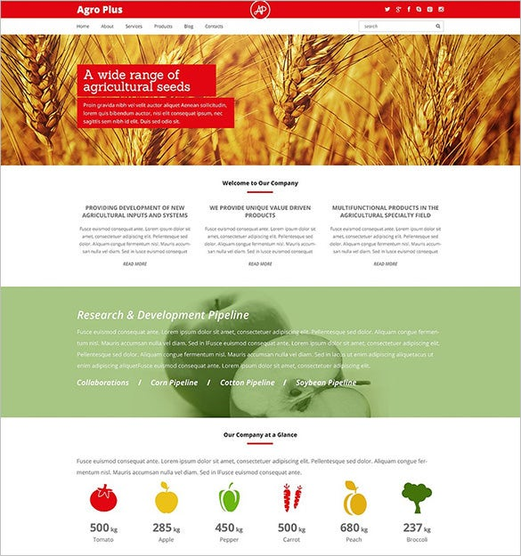 24 agriculture wordpress themes templates free for Wordpress rss feed template