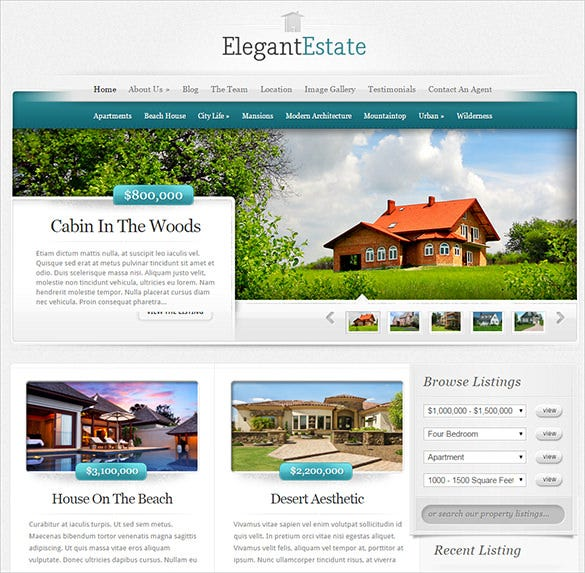 best wordpress theme for real estate