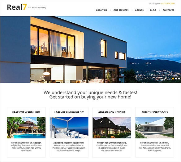 real propertystar agency responsive wordpress theme