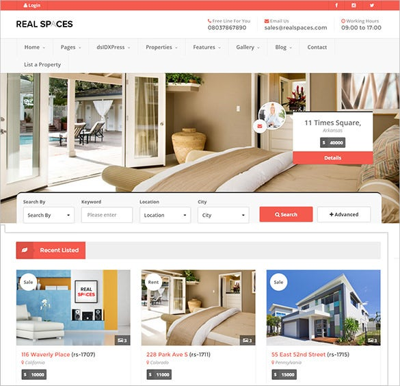 66 Real Estate Wordpress Themes Templates Free Premium Templates