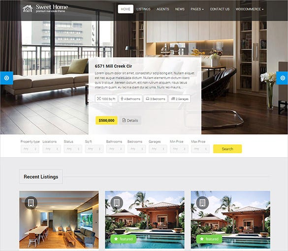 responsive real estate wordpress them