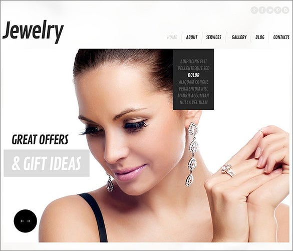 responsive jewelry wordpress theme