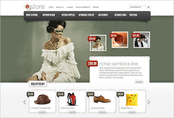 e store premium jewelry wordpress template