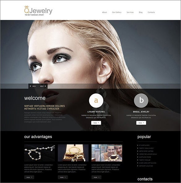 premium handmade jewelry wordpress theme