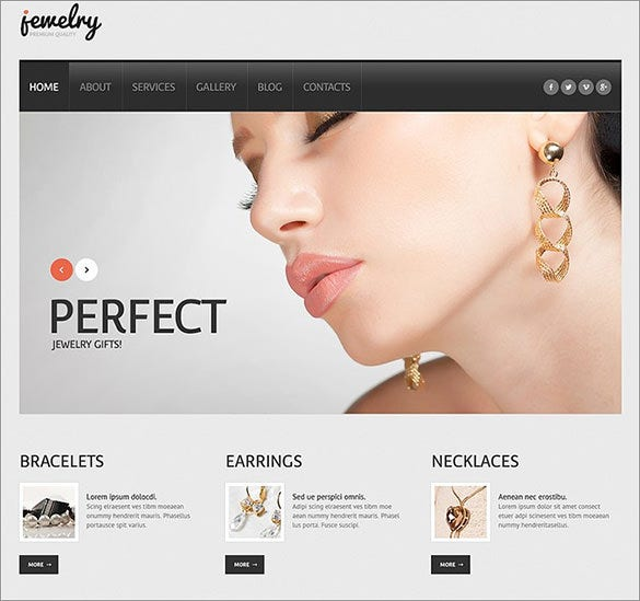 perfect jewelry wordpress theme